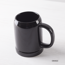 20oz 600cc large tall black mugs ceramic porcelain glossy unique high end design shape sublimation night club bar beer mug