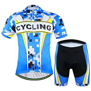 32566159 Get Quotations · 2016 Mens Cycling Jersey Aogda Blue Short Sleeve Ciclismo  Clothing Suit 3D Padded Summer Bicycle Sportwear