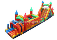 18m long huge size inflatable obstacle course inflatable race running way F5007