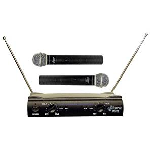 "Pyle Pdwm2500 Dual Wireless Microphone System . 160Mhz To 270Mhz System Frequency ""Product Type: Audio Electronics/Wireless Microphone Systems"""