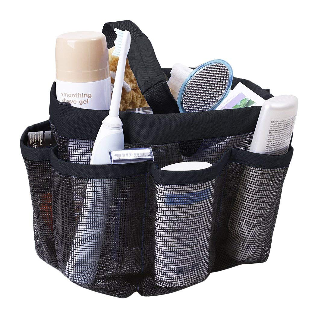 Shower Caddies,Shower Tote Bag Mesh Shower Caddy Toiletry Tote Bag Hanging Quick Dry Bath Organizer Portable Bathroom Caddy Travel Tote Bag Shower Rack Shower Storage Perfect for Dorm Gym Camping