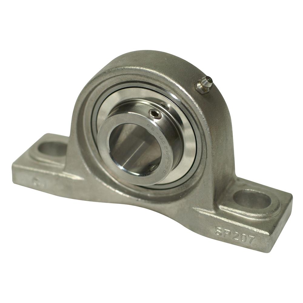 "SBPFL206-17 High Quality 1-1//16/"" Set Screw Pressed Steel 2-Bolt Flange Bearing"