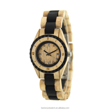China factory wood watch japan movement quartz watch sr626sw for women