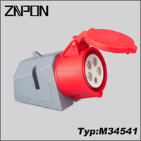 32A 380V 3P+N+E industrial plug and socket M34541