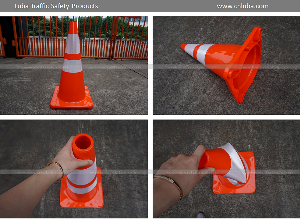 700mm Orange PVC Traffic Cones