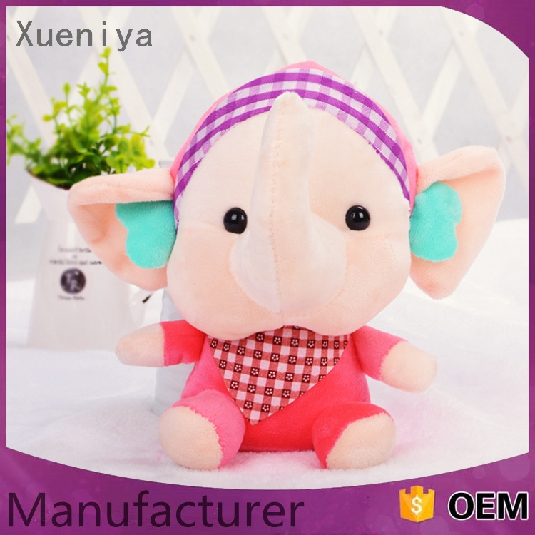 new products 2016 multi-functiona big ears pink plush elephant