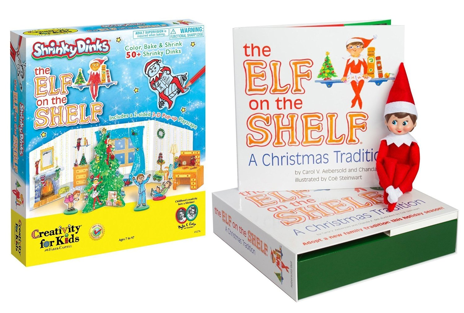 The Elf on the Shelf: A Christmas Tradition Blue Eye Girl Scout Elf with Elf on the Shelf Shrinky Dinks