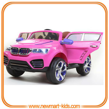 deluxe purple battery operated kids electric car rc toy car for baby girl