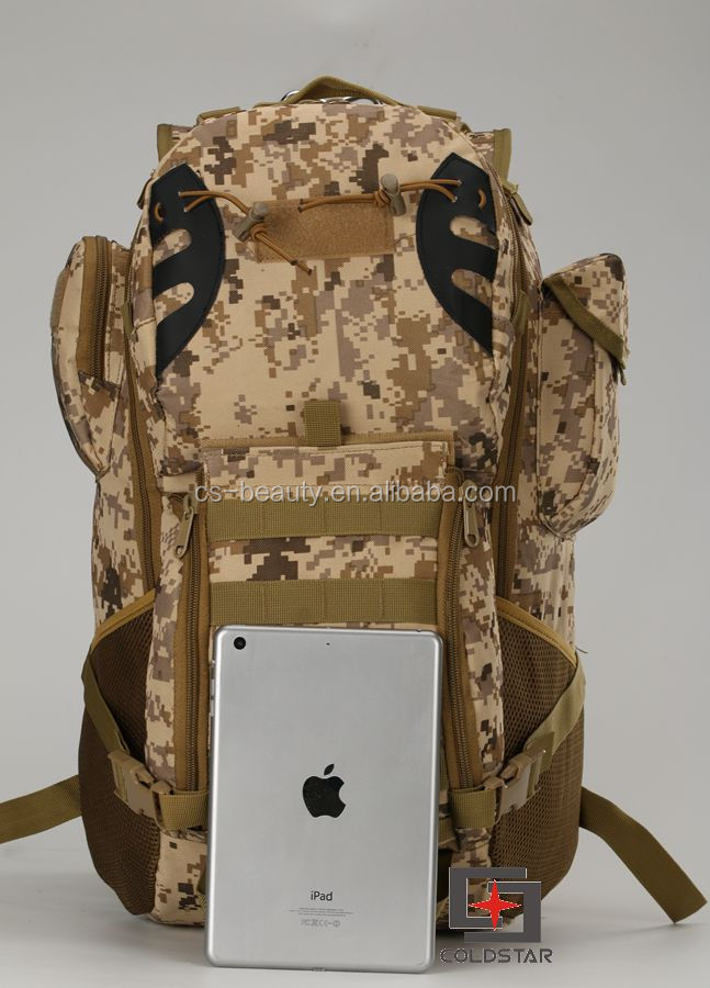 Factory Sale Molle System Military Army Rucksack Bag Digital Camo Tactical Pack Camo Backpack 45 L