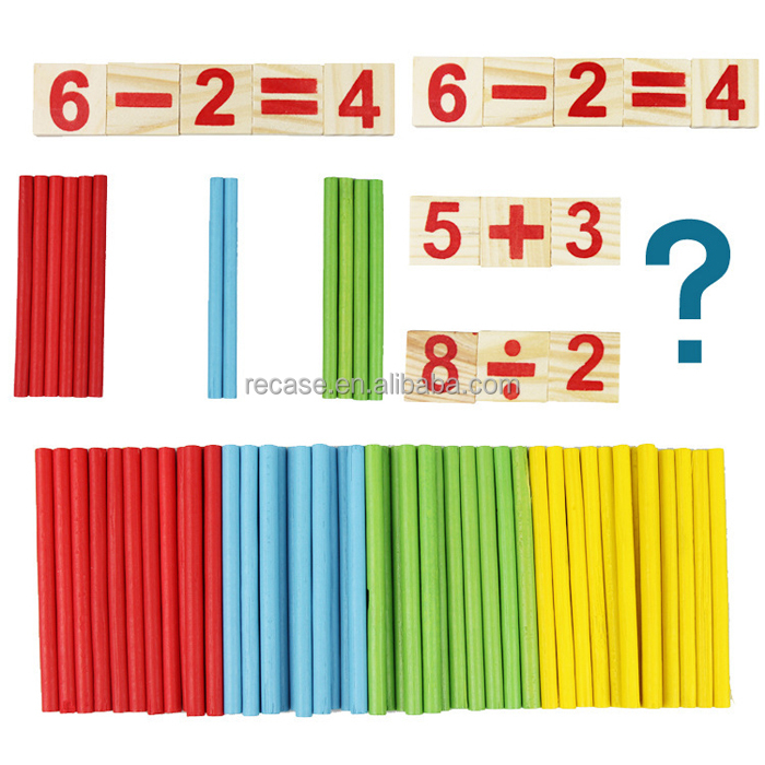 Math Number Counting Sticks Montessori Toys For Toddlers