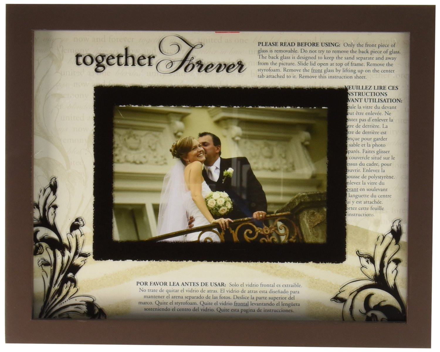 Get Quotations Lillian Rose Unity Sand Ceremony Wedding Picture Frame