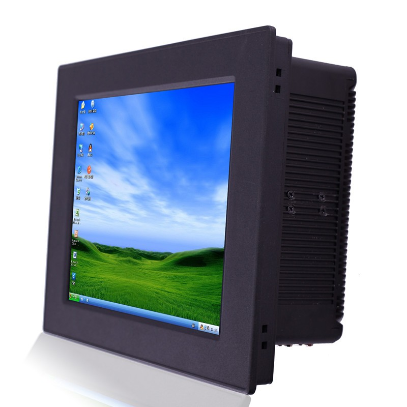 10.4''dual core industrial panel pc with black metal case