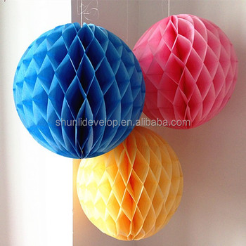 Wedding Stage Decoration Hanging Paper Material Honeycomb Paper