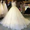 NE020 Organza Lace Floor-Length Ball Gown Wedding dress Chapel Train Lace up Beading Bridal Gown Custom made