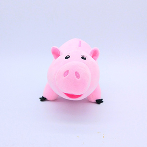 Plush and stuffed piggy money saving box animal coin bank toy