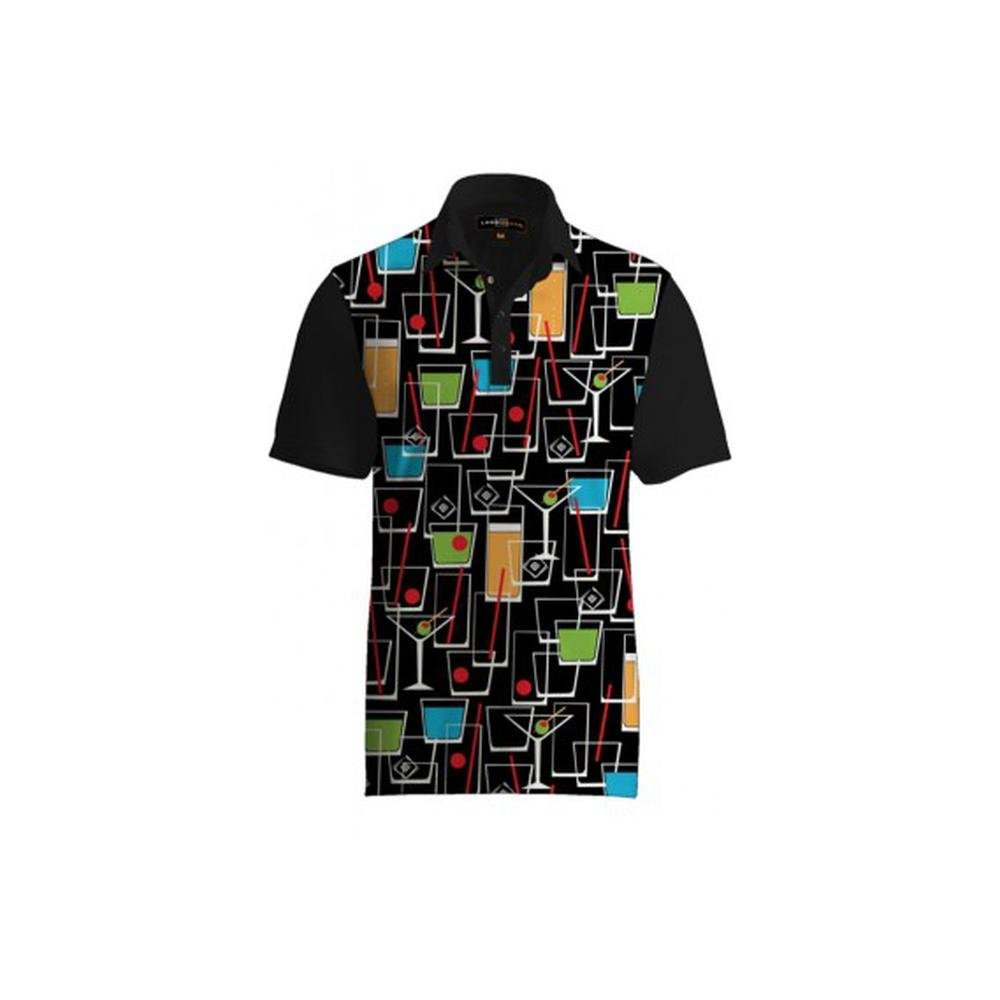 0bbb0ac4bf01 Buy Loudmouth Golf Mens Polo -Fancy Stars  amp  Stripes - Size Large ...