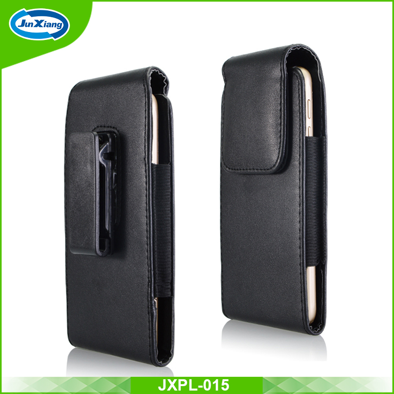 Hot selling 2017 amazon belt clip vertical leather pouch for iPhone 7 plus