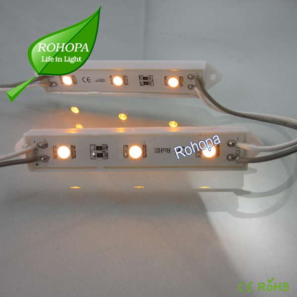 2 years warranty high quality waterproof 3pcs 5050 warm white led module 12v