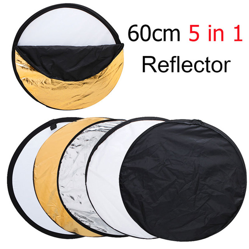 "Ulanzi 24"" 60cm 5 in 1 Portable Collapsible Light Round Photography Reflector for Studio Multi Photo Disc"
