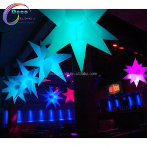 Event led inflatable star wedding decorations outdoor giant led star