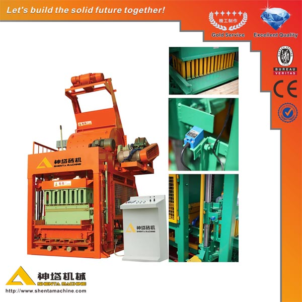 Concrete Brick Raw Material Machinery QTJ4-15 Qualified Hydraulic Interlocking Paving Block Machine