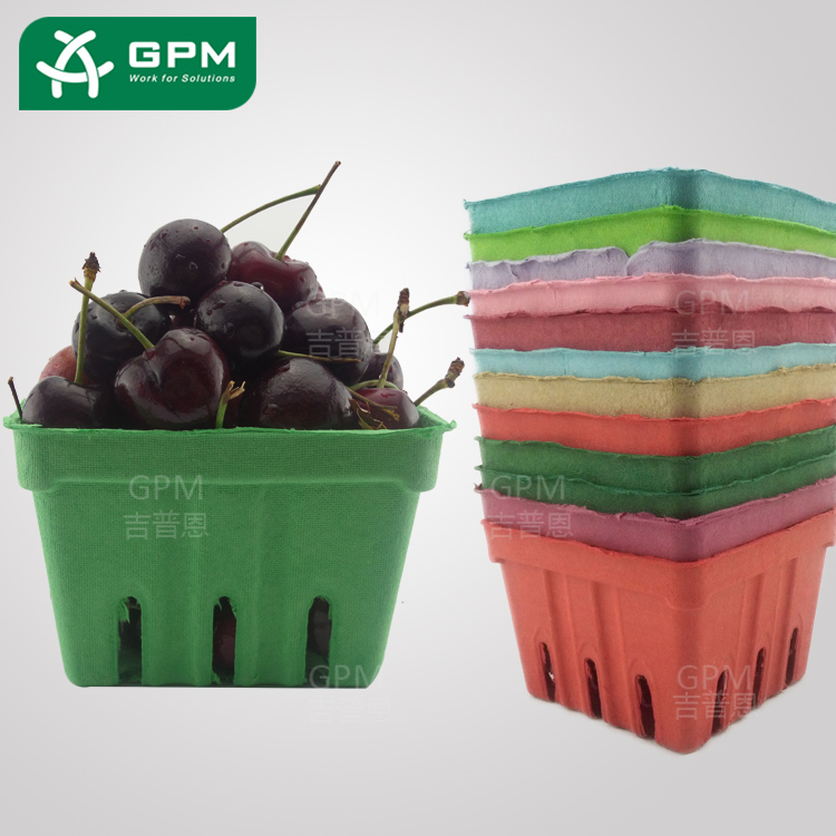 Green Biodegradable Fruit Vegetable Package Basket