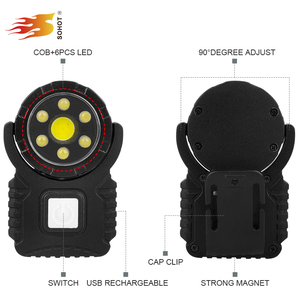 2018 New Design 360 Degree Swivel Head COB Hat Light With 6 Leds For Searching