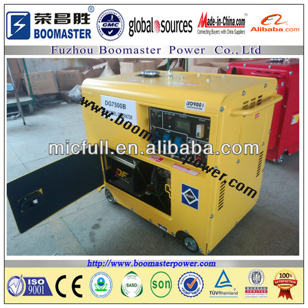 5KVA portable battery operated diesel generator with ATS