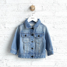 2017 jacket winter wear for children kid cotton boys baby denim coat