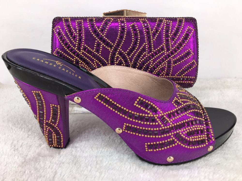 bag and shoes with stones set matching italian women shoes evening Hot f8wq7zf