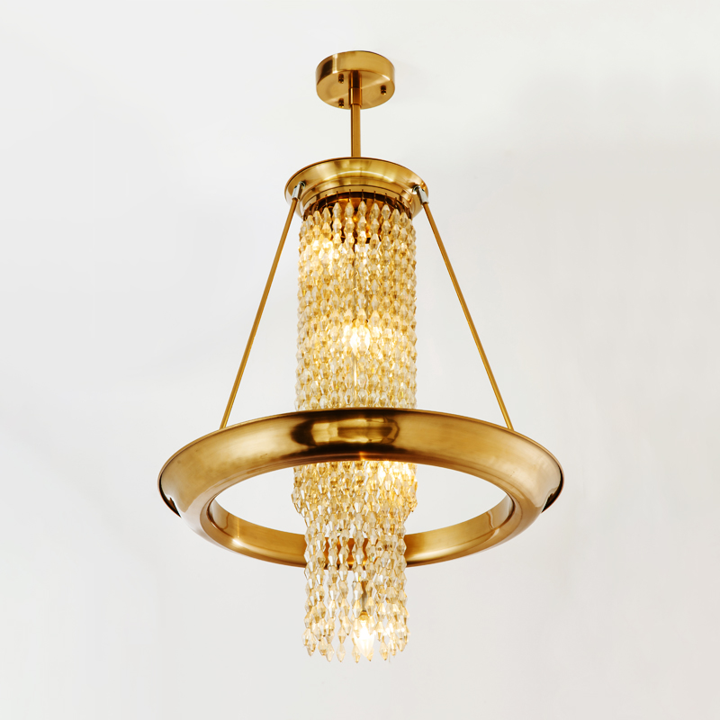 crystal ring pendant chandelier