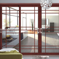 Aluminum Frame exterior double/single glass sliding doors