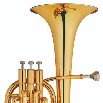 Marching Baritone for Sales. Professional Brass Bb key Marching Baritone. 3 Piston