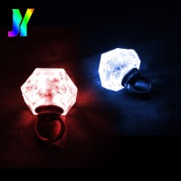 Hot sale 2018 party LED ring designs Light Up Chrias Bulb rings