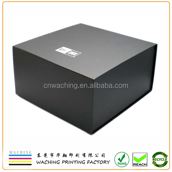 Paper & Paperboard Product Material and black flat pack gift box for hat
