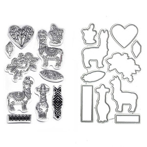 2019 New fashion 10 pcs heart flower and deer design clear stamp craft metal cutting dies for DIY scrapbooking