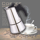 Espresso Coffee Maker / stainless steel coffee maker with High Quality 6 cups /coffee maker stove pot