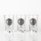 FDA SGS hand painted set of 3 black decal 30ml hanging shot glass