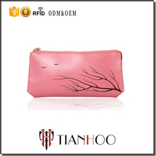 Lady Genuine Leather Hand Bag Cosmetic Bag with Stampa Wholesale