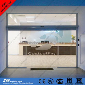 Frameless Panic Breakout Automatic Sliding Doorcommercial Automatic