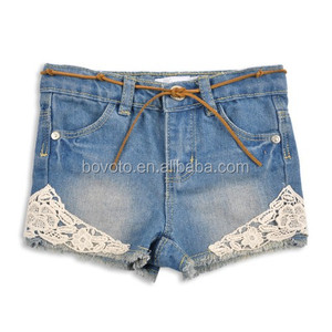 jeans with side lace girls tight jeans pant girl jeans shorts