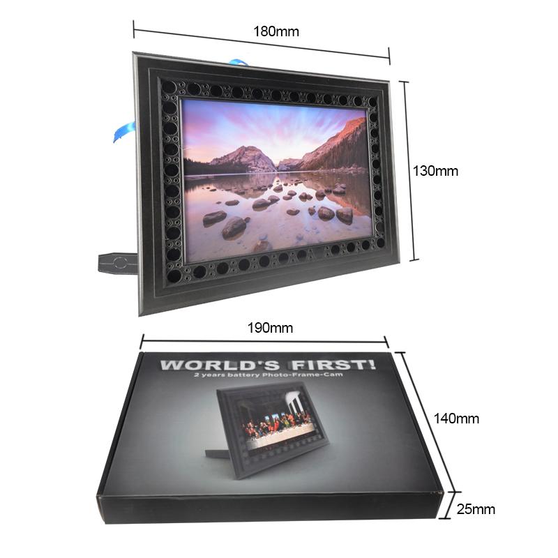 720 p HD PIR Sensor de visión nocturna PVC niñera foto marco cámara ...