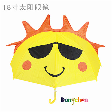 High quality and safe silver glue babies boys girls students 3D animal-shape cartoon kids rain umbrella