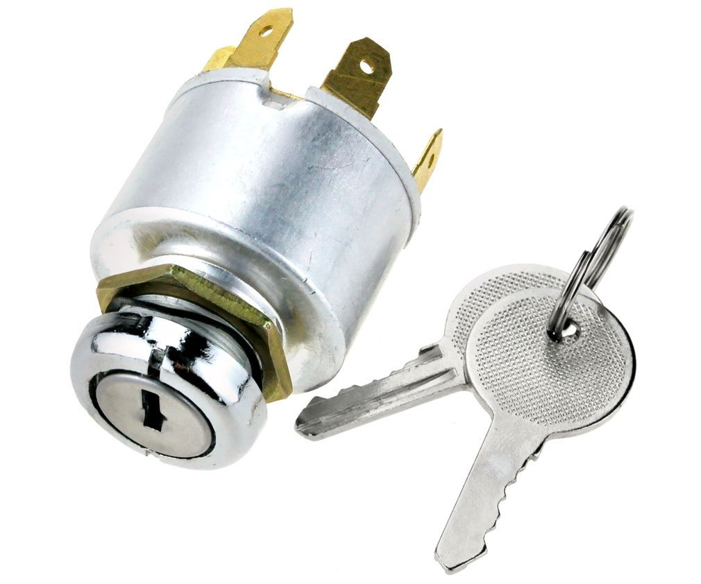 Mid-Ulster Universal Ignition Key Switch Barrel Kit Start Starter Car Boat Bike 2 Keys K590