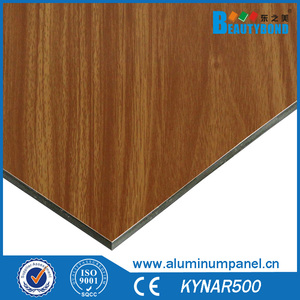 4mm Wood Color Interior Wall Decorative Aluminum Composite Panel ACM