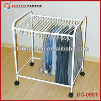 Rolling Pants Trolley Hanger Slacks Organizer Rack DC-0908