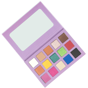 Romantic Color No Logo Pigments Private Label Eyeshadow Palette Vegan