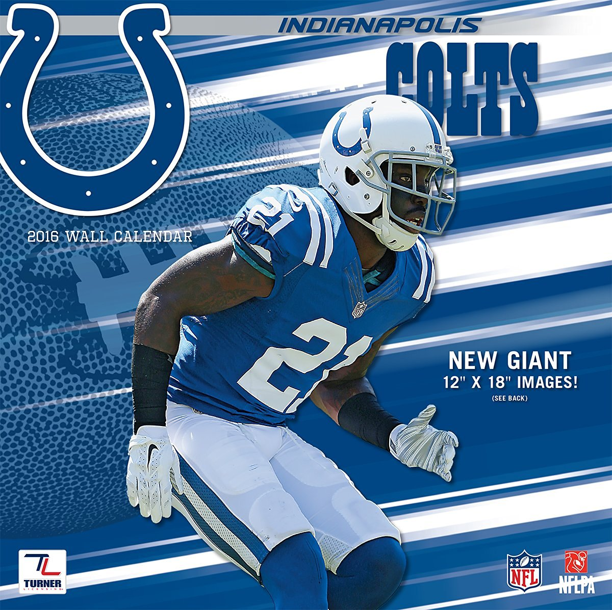 "Turner Indianapolis Colts 2016 Team Wall Calendar, September 2015 - December 2016, 12 x 12"" (8011912)"
