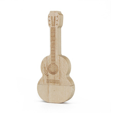 Wooden Guitar Shape Design U Disk Usb 3.0 Flash Drive Pen Drive Memory Stick 8Gb 16Gb 32Gb 64Gb Mini Usb Storage Pendrive