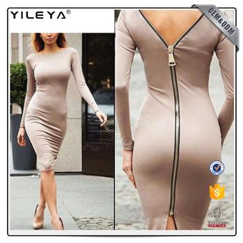 Sexy back zip dress